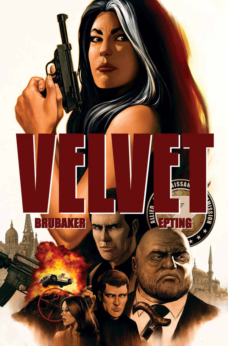 Portada de Velvet 1, de Brubaker y Epting