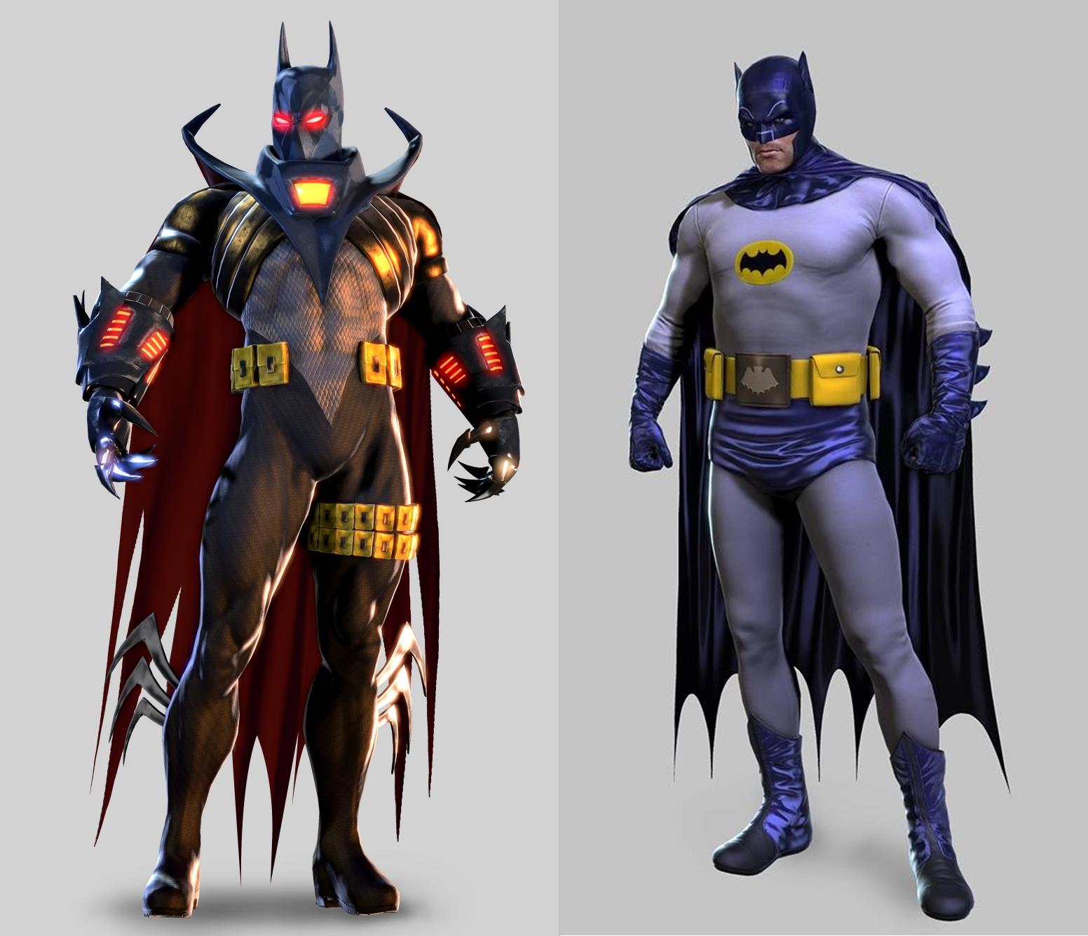 Azrael y Batman de los 60' (Adam West sin barriga)