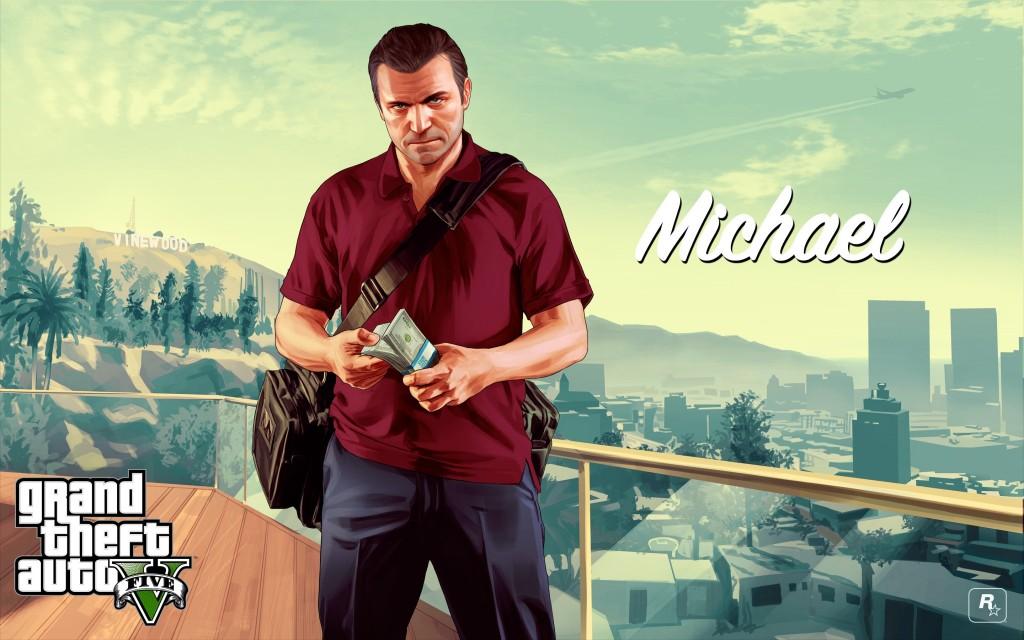 Michael con el fajo para reservar GTA V en el GAME de turno