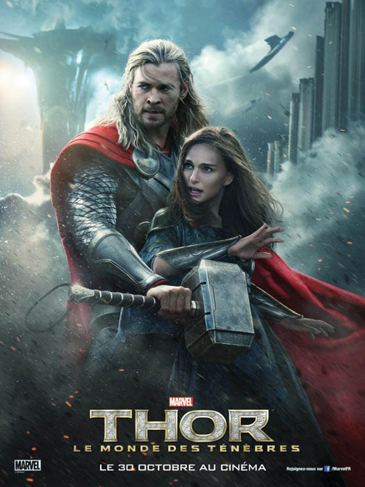 Thor y Jane Foster en el nuevo póster de Thor, el Mundo Oscuro