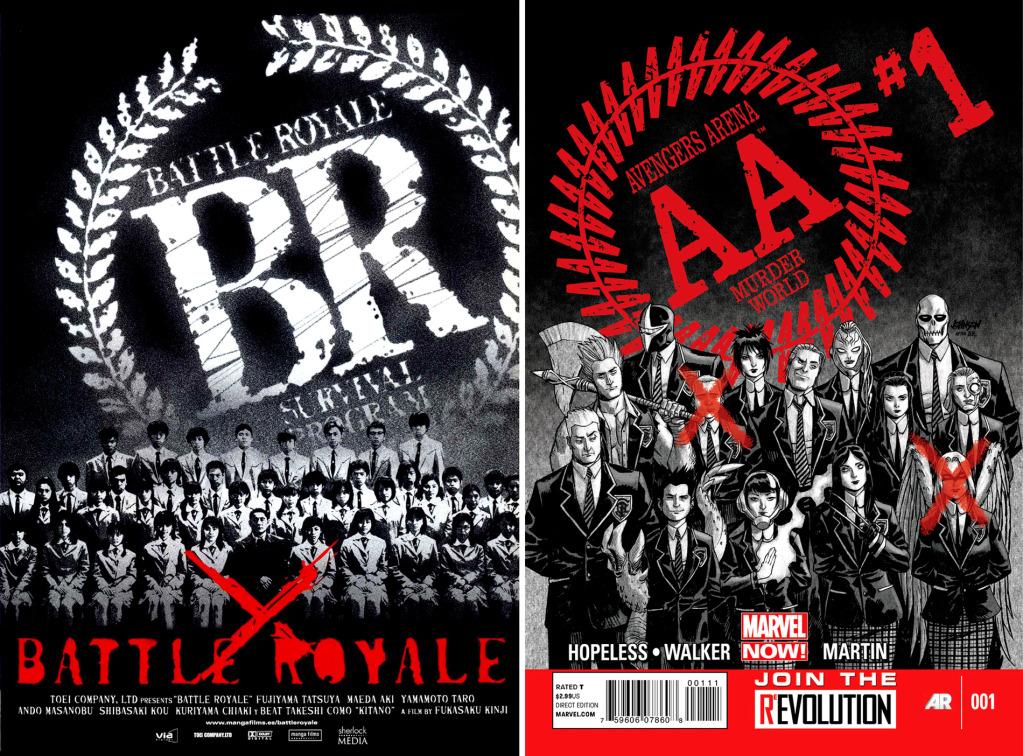 Vengadores Arena#1. Referencia a Battle Royale