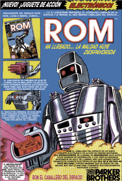 Anuncio original del juguete ROM