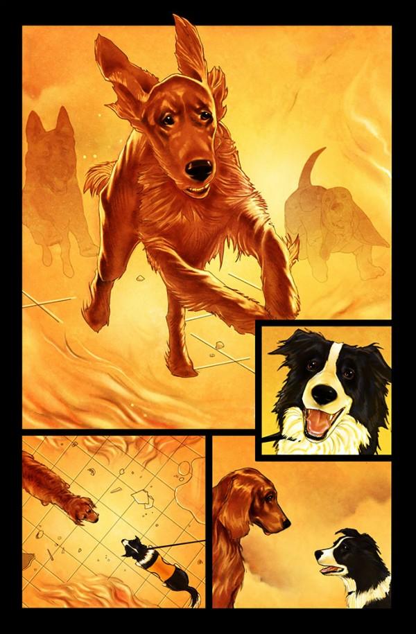 Página 5 del primer número de Rover Red Charlie