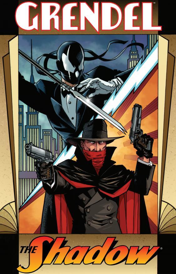 Espectacular crossover: Grendel y The Shadow.