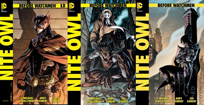 Portadas de la serie Antes de Watchmen: Búho Nocturno