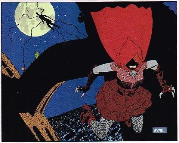 Shade al fondo y... la joven conocida como La Sangre, entre las cúpulas de La Sagrada Familia.