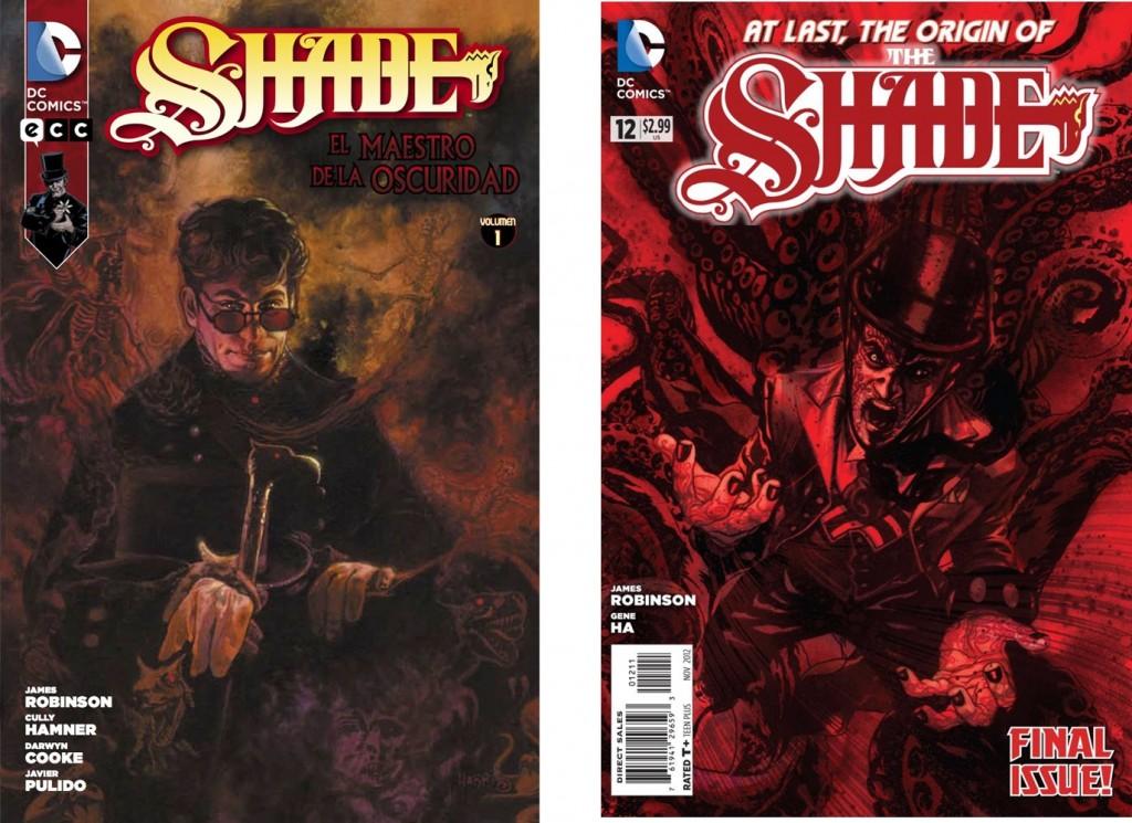 Shade, portada vol. 1 de ECC y número 12 de DC.