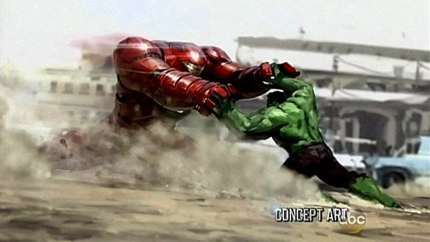 Hulk versus la armadura HulkBuster