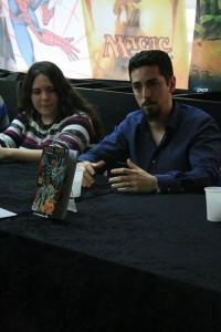 Ana Nieto y Jorge R. Plana en un momento de la presentación.