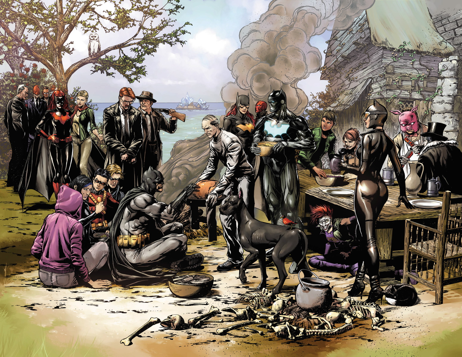 Batman Eterno, obra de Jason Fabrok, imitando un cuadro clásico