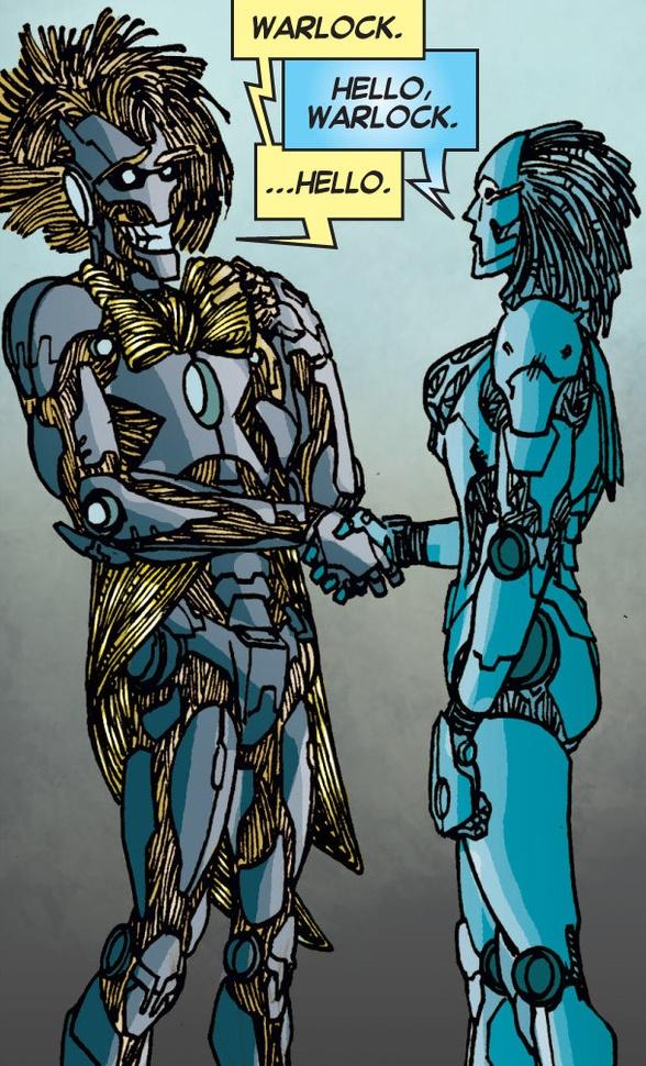 Momentazo... Warlock y Peligro se conocen: salta la chispa!