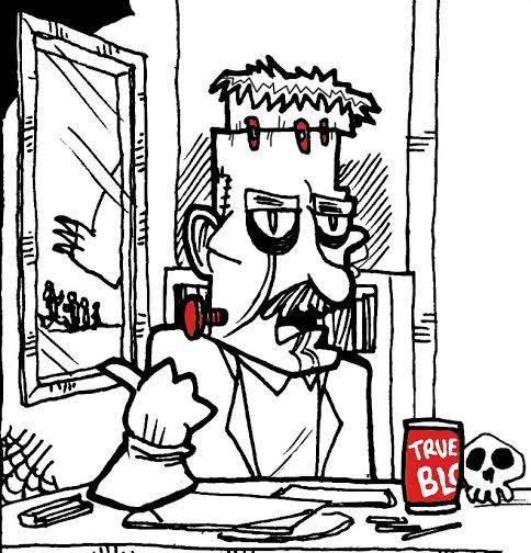 Frank Einstein (Director de la universidad)  Albert Eisntein tras dejar el Proyecto Manhanttan arrepentido por haber contribuido a la creación de la bomba nuclear empezó a investigar y a experimentar sobre formas en las que los humanos podrían sobrevivir a una guerra nuclear total: Frank Einstein es el resultado.