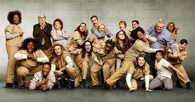 "Imagen promocional de la segunda temporada de la serie de Netflix ""Orange is the new black"""