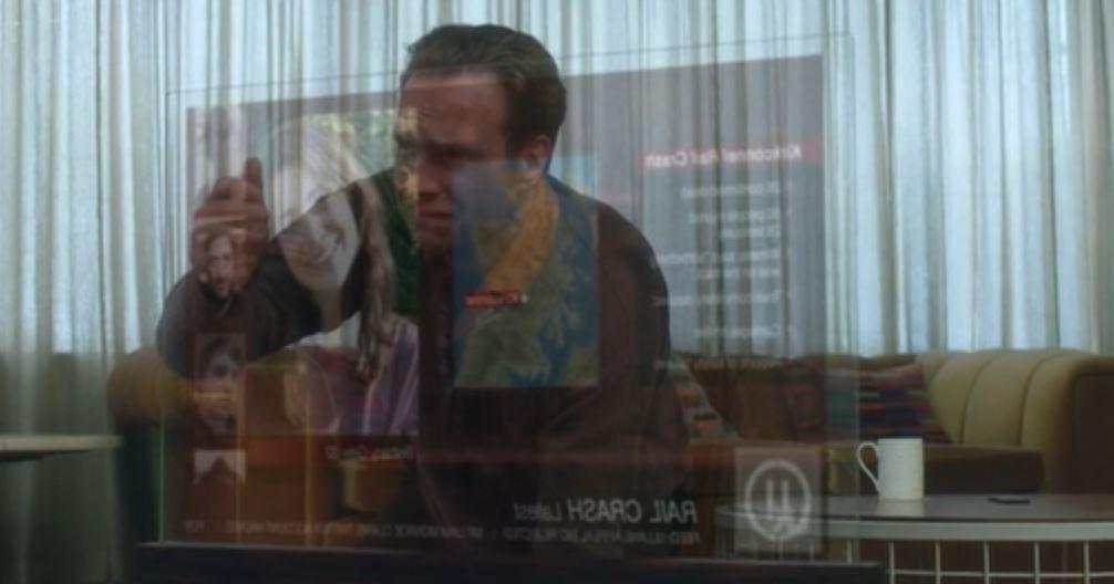 "Joe (Rafe Spall) en  ""Black Mirror: White Christmas"" de Channel 4."