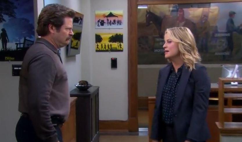 """Ron y Leslie enfrentados en la Temporada 7 de """"Parks and Recreation"""""""