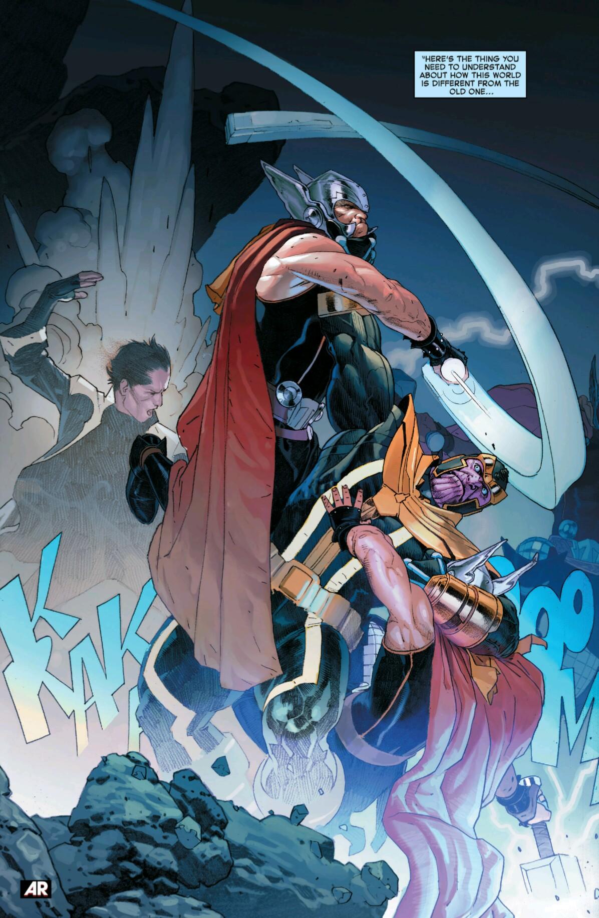 Arte de Ribic... Thanos contra Thors Corp