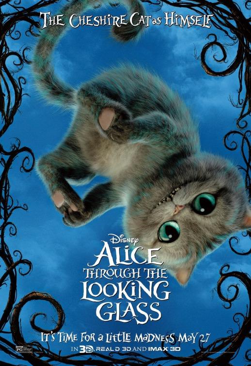 Póster con el Gato de Cheshire de Alicia a través del espejo