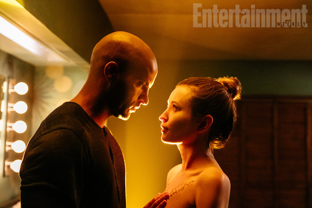 American Gods Season 1 Air Date: 2016 or 2017 Pictured: Shadow Moon (Ricky Whittle) and Laura Moon (Emily Browning)