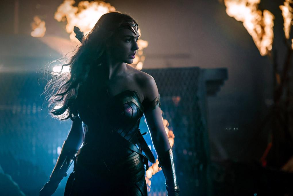 """Gal Gadot grabando escenas de la película """"La Liga de la Justicia"""""""