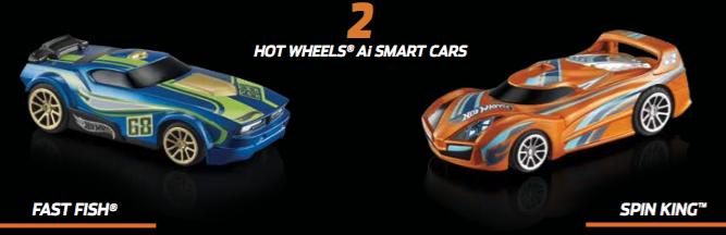 Fast Fish y Spin King, los dos coches de carrera de juguete de Hot Wheels