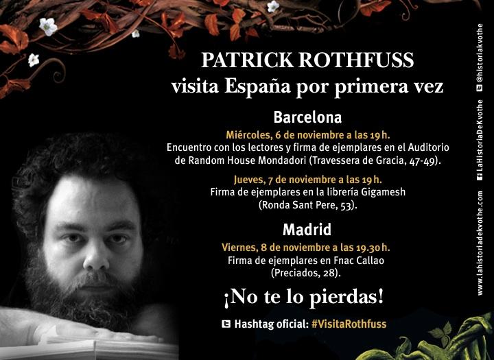 Visita de Patrick Rothfuss a España 2013