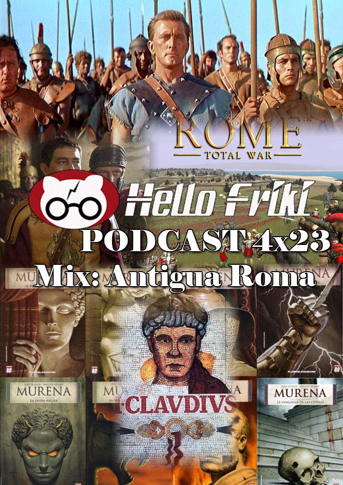 HF 4x23 Mix Antigua Roma: Espartaco, Rome, Yo, Claudio, Murena...